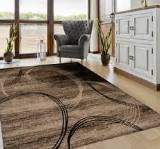 details zu designer teppich modern kreisel muster meliert in braun schwarz