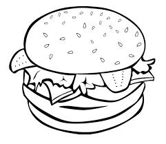 Junk Food Hamburger Coloring Page