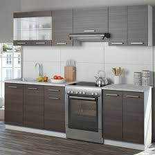 vicco küche raul küchenzeile küchenblock einbauküche 240 cm edelgrau