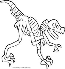 Dinosaur Bones Color Page