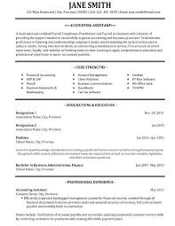 Resume Examples For Accounting Templates Best Samples Images On Free