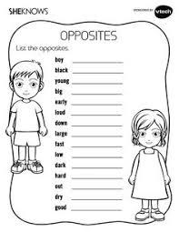 List The Opposites Activity