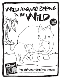 Circus Activity Book Wild Animals Belong In The Cover