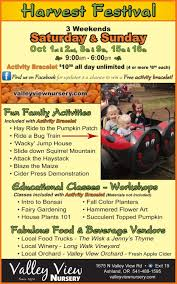 Jacksonville Oregon Pumpkin Patch by Valley View Nursery Harvest Festival Oct 7 8 14 15 21 22