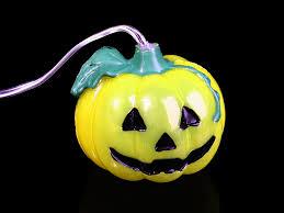Fiber Optic Halloween Decorations by Halloween Pumpkin Decor Light 8 Led Lights