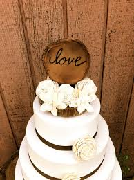 Rustic Wooden Wedding Cake Topper Country Weddings