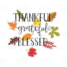 Thankful Grateful Blessed Simple Lettering Calligraphy Postcard Or Poster Graphic Design Element Royalty