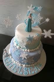 Olaf Looking at Elsa Frozen Birthday Cake