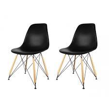 chaise pied metal chaise design scandinave pied métal et bois lot de 2