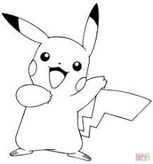 Pikachu Waving Coloring Page