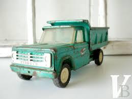 100 Structo Toy Truck Vintage 1950s Steel Dump Green Heavy Duty