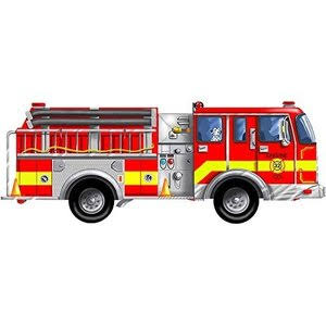 Melissa and Doug Giant Fire Truck Floor Puzzle - 24pc