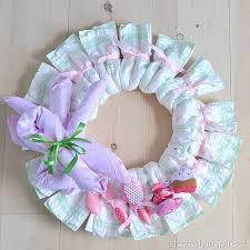 diy wreath diy baby shower decoration