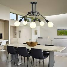 moderne führte deckenleuchten leuchte e27 3 5 köpfe licht deckenleuchte wohnzimmer schwarz farbe len lustre abajur luminaria