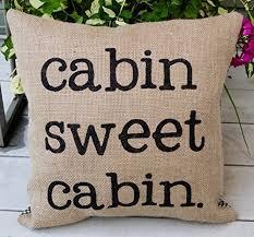 Burlap Lake Home Or Cabin Pillow 16