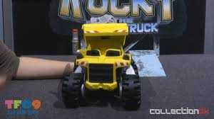 Toy Fair 2009 Mattel: Rocky The Robot Truck - CollectionDX - YouTube Matchbox Rocky The Robot Truck Sounds And Interactions Youtube 814pcs Double E C51014w 2 In 1 Rc Mixer Building Blocks Kits Does What Interactive By New Tobot Athlon Mini Rocky Transformer Excavator Car T Stinky Garbage Save 35 Today The Dump Toy Talking Mattel Pop Rides Deadpools Chimichanga Deadpool Catalog Funko 1903638801 Deluxe Walmartcom Paw Patrol Sea Light Up Teenage Mutant Ninja Turtles