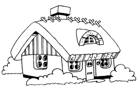 Haunted House Coloring Pictures For Kindergarten Pages Images Image Full Size