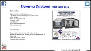 Dorema Daytona 2015 Touring Caravan Awning - YouTube Awning Zips Bromame Caravan Size Chart Dorema Awning Annexe Caravan Sirocco Royal 350 Deluxe Permanent Pitch Youtube Exclusive Xl 300 3m Size In And Wear Seasonal Sizes Calypso 13 In Nottingham Nottinghamshire