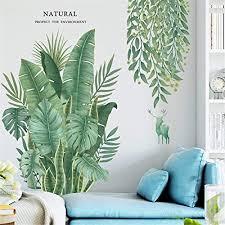 wandtattoo wandsticker groß grüne tropische pflanze baum blätter wandaufkleber wandtattoos für haus wohnzimmer schlafzimmer shop dekoration b