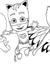 Pj Masks Coloring Pages Sheets Mask To Color And Print Cute Gecko P