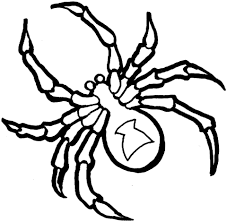 Click To See Printable Version Of Black Widow Spider Coloring Page