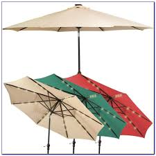Solar Lighted Offset Patio Umbrella by Solar Lighted Patio Umbrellas Patios Home Decorating Ideas