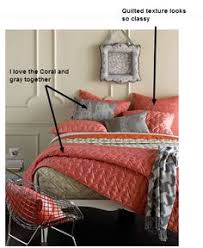 Coral Colored Bedding by Coral Sheets Kinda Obsessed With Coral And Gray Right Now For My