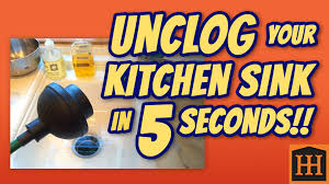Home Remedy To Unclog A Clogged Sink by How To Unclog Kitchen Sink In 5 Seconds Youtube