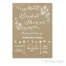 DIY Whimsical Rustic Bridal Shower Invitation Template