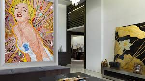 indoor mosaic tile wall glass patterned marilyn sicis