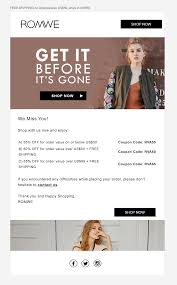 Pin By Susie Pusateri On Email Marketing | Email Marketing ... Fashion Coupons Discounts Promo Coupon Codes For Grunt Style Coupon Code 2018 Mltd Free Shipping Cpap Daily Deals Romwe Android Apk Download Romwe Deck Shein Code 90 Off Shein Free Shipping Puma Canada Airborne Utah Coupons Zaful Discount 80 Student Youtube Black Friday 2019 Ipirations Picodi Philippines