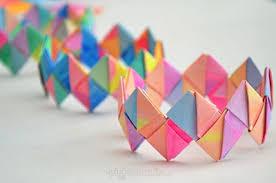 Folded Paper Bracelets DIY
