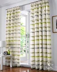 Amazon Uk Living Room Curtains by Byron Lined Voile Curtains Luxury Striped Pencil Pleat Ready