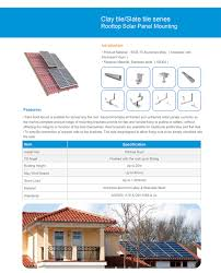 solar system mounting bracket with clay tile hook5 glazed tile