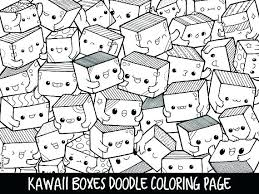 Cute Kawaii Coloring Pages Food Unique Sheets Lovely Sweets Animal