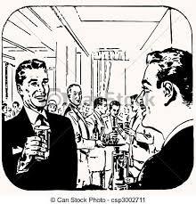 Cartoon Retro Vintage Cocktail Vector