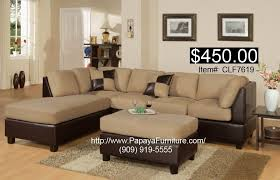 pinto tobacco finish microfiber living room sofa and set discount