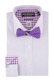 nick graham striped dress shirt u0026 polka dot bow tie set