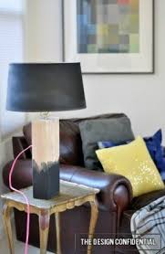 wood base table lamp foter