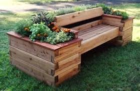 Garden Bench Ideas Diy Arch And For An Organized Pallet Furniture With Planter Box Painted Outdoor