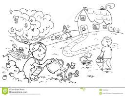 happy magic numbers garden black and white royalty free stock garden clipart black and white 1300 1000