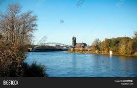 100 Magdeburg Water Bridge River Elbe Near Image Photo Free Trial Bigstock