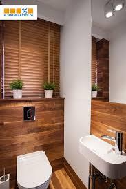holzoptik im gästewc badezimmerideen kleines badezimmer