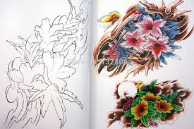 Rare Japanese Flower Tattoo Flash Book Lotus Cherry Blossoms W Line Work Sketch Reference Free Shipping In Accesories From Beauty