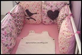 patron tour de lit bebe couture pour bébé fille etoiles et petits pois