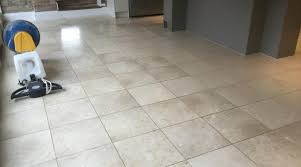 Deep Cleaning A Polished Limestone Kitchen Floor In Northamptonshire Tiling Tips And Information About