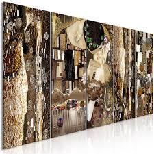 wandbilder gustav klimt der kuss leinwand bilder wohnzimmer