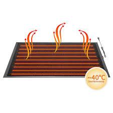 gummi teppich heizmatte 40 c beheizbare fußmatte infrarot fußwärmer fußabtreter