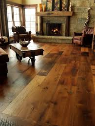 Rustic Living Room Floor