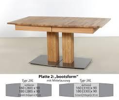 säulentisch alton xl bootsform ausziehtisch esstisch holztisch expendio
